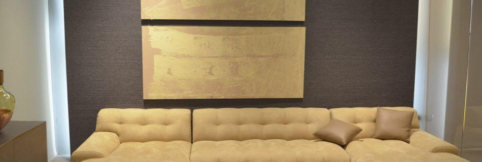 exposición de arte abstracto en roche bobois por balcris