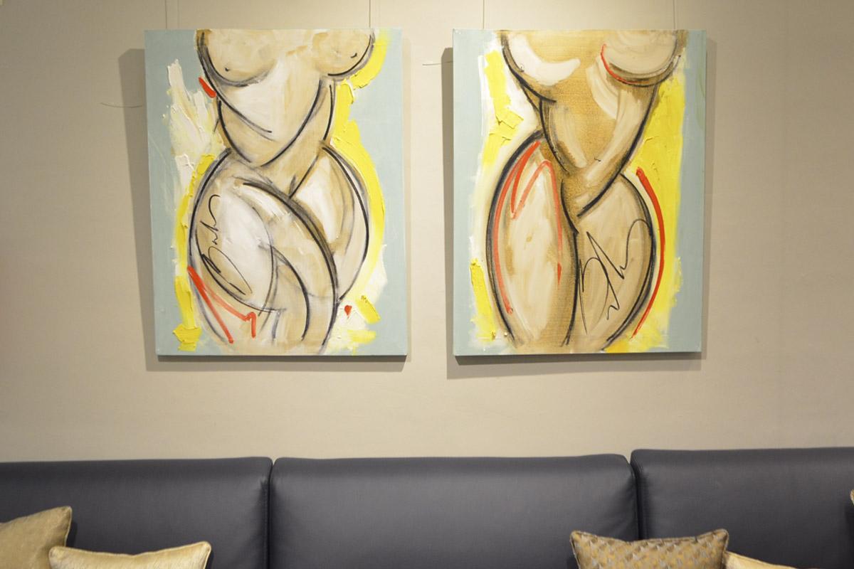 desnudos abstractos para interiorismo balcris